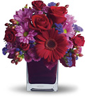It's My Party by Teleflora - Red & Purple Cube from Olney's Flowers of Rome in Rome, NY