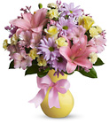 Teleflora's Simply Sweet-Pastel Vase from Olney's Flowers of Rome in Rome, NY