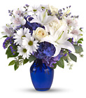 Beautiful in Blue - Blue & White Mixed Vase  from Olney's Flowers of Rome in Rome, NY