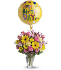 Dazzling Day Bouquet - Pink & Yellow Mixed Vase from Olney's Flowers of Rome in Rome, NY