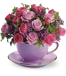 Teleflora's Cup of Roses Bouquet from Olney's Flowers of Rome in Rome, NY