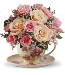 Teleflora's Victorian Teacup Bouquet from Olney's Flowers of Rome in Rome, NY