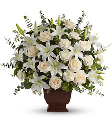 Teleflora's Loving Lilies and Roses Bouquet from Olney's Flowers of Rome in Rome, NY