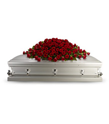 Greatest Love Casket Spray from Olney's Flowers of Rome in Rome, NY