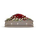 Garden of Grandeur Casket Spray from Olney's Flowers of Rome in Rome, NY