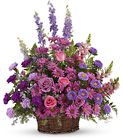 Gracious Lavender Basket from Olney's Flowers of Rome in Rome, NY