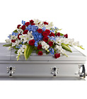 Distinguished Service Casket Spray from Olney's Flowers of Rome in Rome, NY