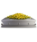 Golden Garden Casket Spray from Olney's Flowers of Rome in Rome, NY