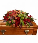 A Fond Farewell Casket Spray from Olney's Flowers of Rome in Rome, NY