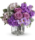 Sweet as Sugar by Teleflora - Purple Mixed Cube  from Olney's Flowers of Rome in Rome, NY