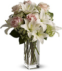 Teleflora's Heavenly & Harmony - Cream Lilies & Roses from Olney's Flowers of Rome in Rome, NY