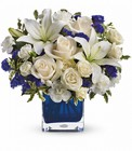 Teleflora's Sapphire Skies Bouquet from Olney's Flowers of Rome in Rome, NY