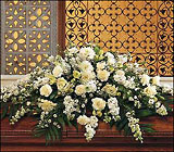 Pure White Casket Spray from Olney's Flowers of Rome in Rome, NY