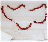Rosary of Red Roses from Olney's Flowers of Rome in Rome, NY