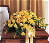 Brighter Blessings Casket Spray from Olney's Flowers of Rome in Rome, NY