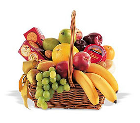 Condolence Fruit Basket from Olney's Flowers of Rome in Rome, NY
