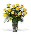 A Dozen Yellow Roses from Olney's Flowers of Rome in Rome, NY